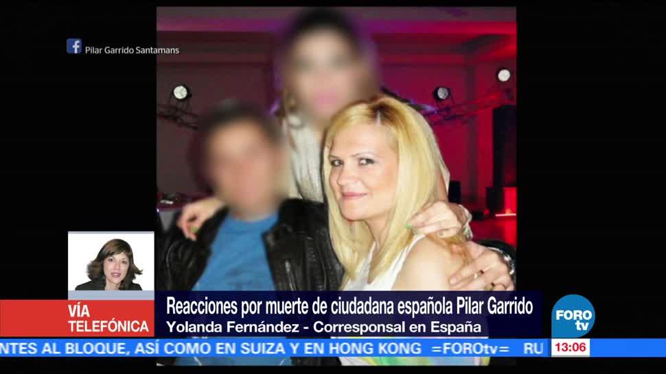 Conmociona muerte de española Pilar Garrido