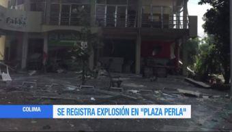 Registra Explosion Plaza Perla Colima