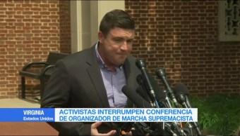 Organizador Marcha Supremacista Culpa Policia Disturbios Virginia
