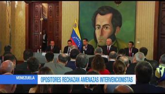 Opositores Venezuela Rechazan Amenazas Trump Opcion Militar