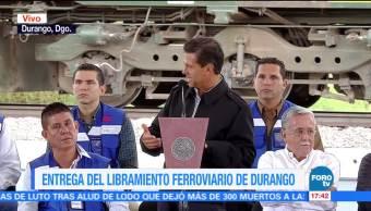 Epn Entrega Libramiento Ferroviario Durango