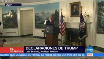 Trump experiencia reaccionar violencia Luis Estrada