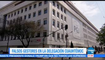 Denuncia a falsos gestores delegación Cuauhtémo