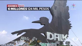 Vandalizan millonaria escultura La Paz Ixtapaluca