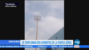 Roce de alas causó accidente de aeronaves Sedena