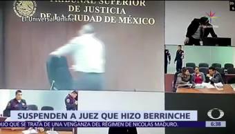 Suspenden, juez, CDMX, berrinche