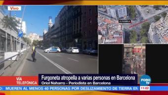 Autor, atropellamiento, Barcelona, atrincherado