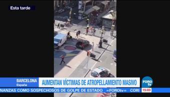 Aumentan víctimas de atropellamiento masivo Barcelona