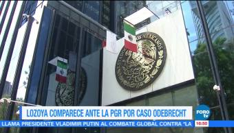 Lozoya comparece PGR por caso Odebrecht
