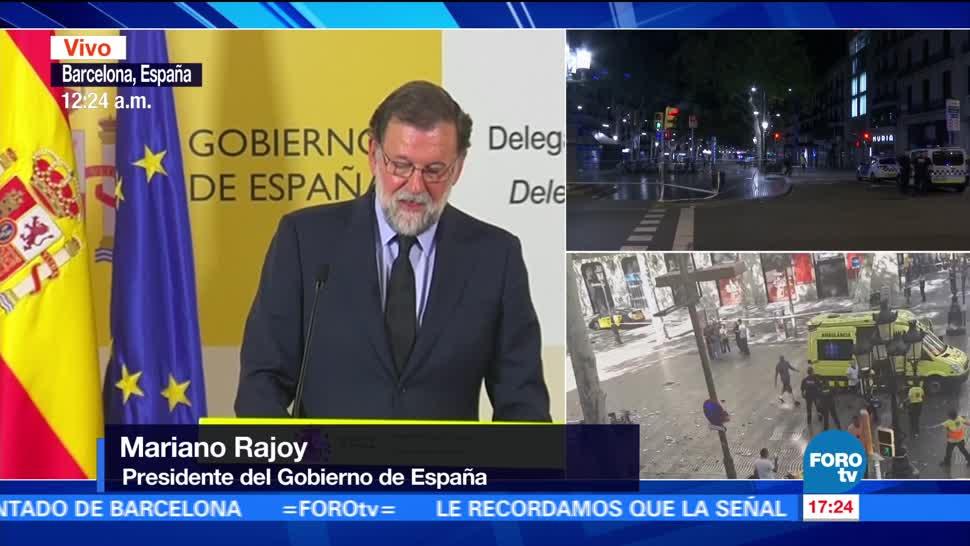 Rajoy decreta 3 días luto Barcelona
