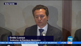 Emilio Lozoya se presenta ante la PGR