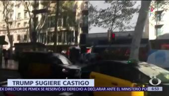 Trump Pide Castigo Sospechoso Atentado Barcelona