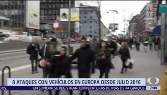 Recuento Ataques Vehículos Europa Ultimos 13 Meses