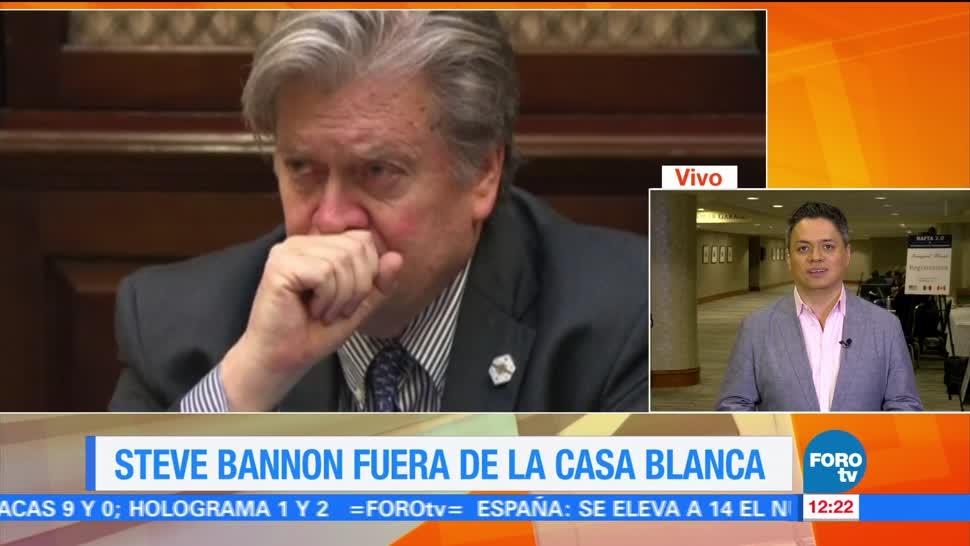 Donald Trump Acepta Renuncia Steve Bannon
