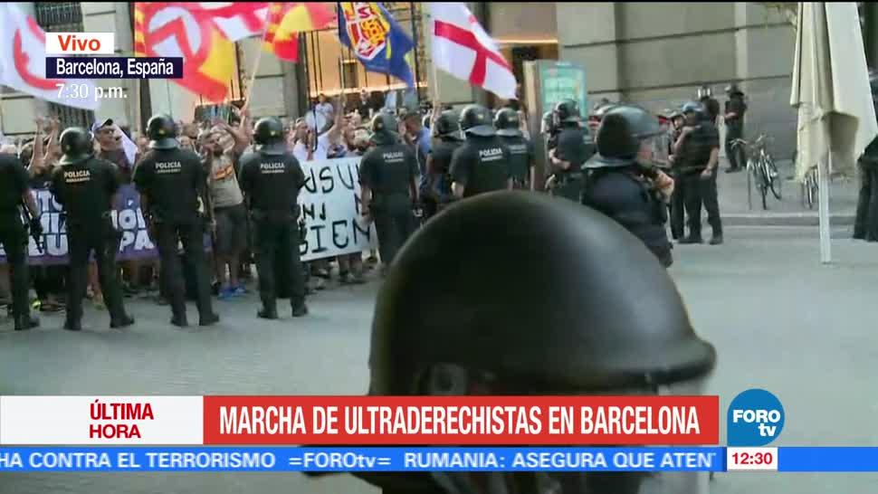 Marcha Ultraderechista Barcelona Policia Movilizacion