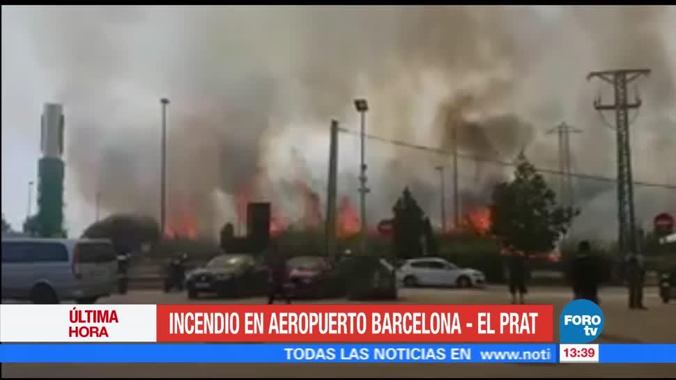Incendio aeropuerto Barcelona no afecta operaciones
