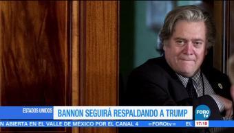 Bannon seguirá respaldando a Donald Trump