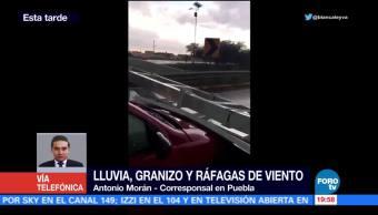 Lluvia intensa con granizo se registra en PueblaLluvia intensa con granizo se registra en Puebla