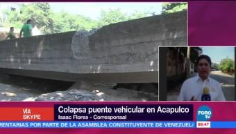 Colapsa Puente Vehicular Acapulco Secretaria De Proteccion Civil Guerrero
