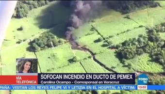 Sofocan Incendio Toma Clandestina Ducto Pemex