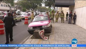 Muere taxista por infarto en la CDMX