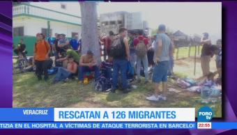 Aseguran, migrantes, hacinados, tráiler