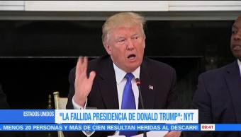 New York Times Fallida Presidencia Donald Trump