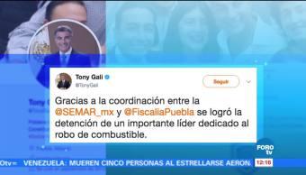 Autoridades Puebla Detención líder huachicolero