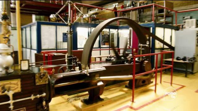 Máquina de vapor crear energía mecánica
