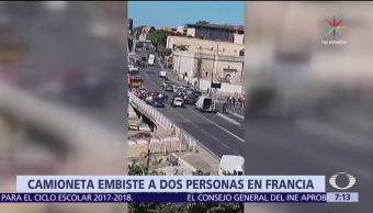Camioneta, embiste, paradas, Marsella