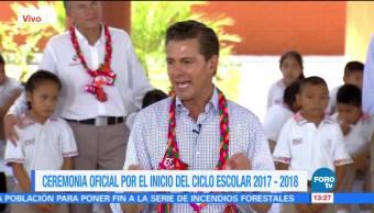 Epn Inaugura Ciclo Escolar 2017-2018 Presidente Enrique Peña Nieto