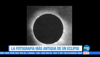 Fotografia Antigua Eclipse Total Sol