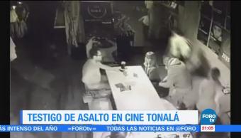 Asalto en el cine Tonalá en la CDMX