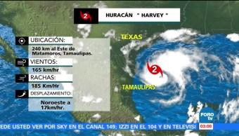 El huracán Harvey alcanza categoría 2