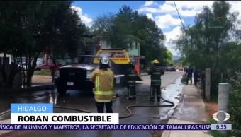 Se enfrentan policías huachicoleros Tula Hidalgo