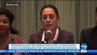 Sheinbaum presenta resultados encuesta Morena CDMX