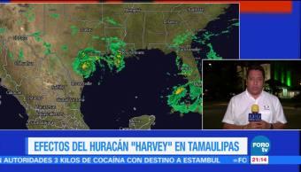 Efectos del huracán Harvey en Tamaulipas