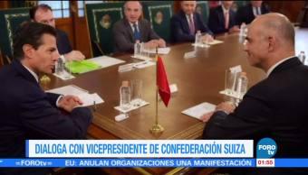 Enrique Peña Nieto recibe a Alain Berset en Palacio Nacional