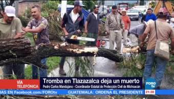 Tromba en Tlazazalca deja un muerto