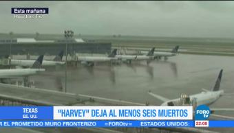 Cierran aeropuertos de Houston por huracán Harvey
