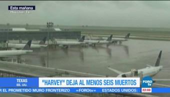 Cierran aeropuertos de Houston por huracán Harvey