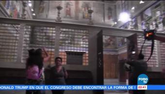Instalan réplica de la Capilla Sixtina en Tapachula