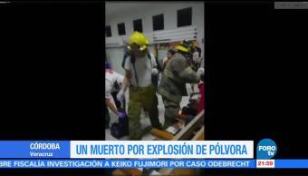 Explosión autobús deja un muerto Veracruz