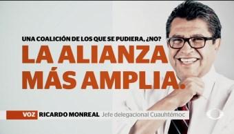 Monreal afirma quiere ser candidato Morena