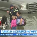 Aumentan 33 los muertos Harvey Texas