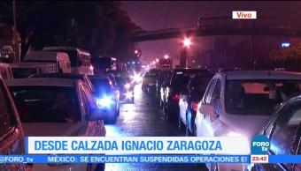 Se paraliza el tránsito en la calzada Ignacio Zaragoza
