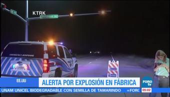 Alerta Texas Explosión Planta química