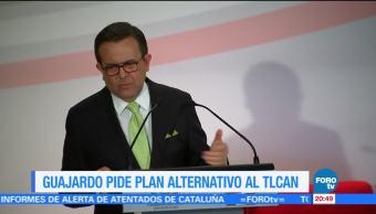 Guajardo pide alistar plan ante eventual salida de EU del TLCAN