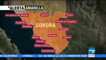 Alerta en ocho estados por el paso de 'Lidia'