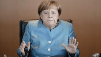 Angela Merkel, canciller de Alemania en reunion